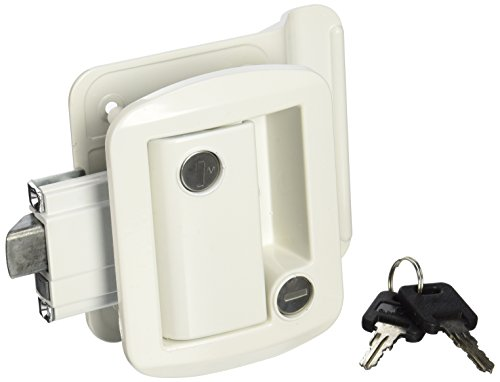 AP Products 013-571 White Global Travel Trailer Entrance Lock Set by AP Products