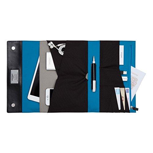 Knomo 114-091-BLK Soho Zip Organizer Ledertasche für Tablet, 25,4 cm (10 Zoll) schwarz