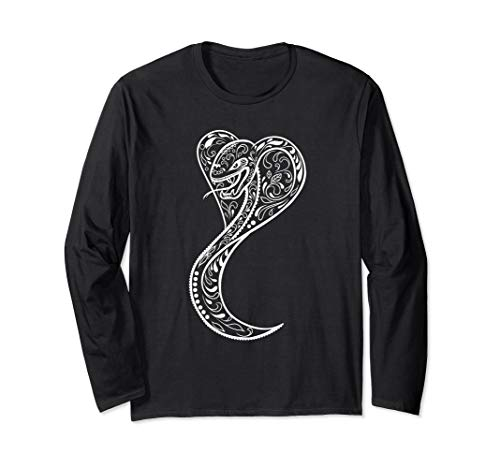 Mexican Sugar Skull 'Dia De Los Muertos' Snake Long Sleeve T-Shirt