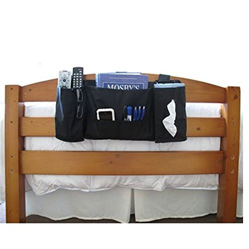 headside storage caddy - black