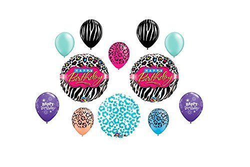 Miss Diva Birthday Balloon Bouquet~ 12ct