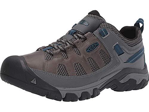(KEEN Targhee Vent Hiking Shoe - Men's Basalt/Legion Blue, 7.5)