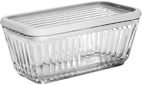 Anchor Hocking Bake 'N' Store Glass Dish and Lid with Silicone Gasket Sleeve, 5 Cup by Anchor Hocking