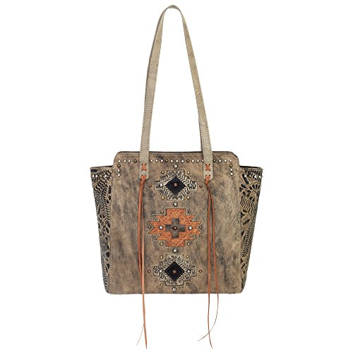 Top Tote Soul West Charcoal American Distressed Collection Navajo Brown Zip gxqPxXFw