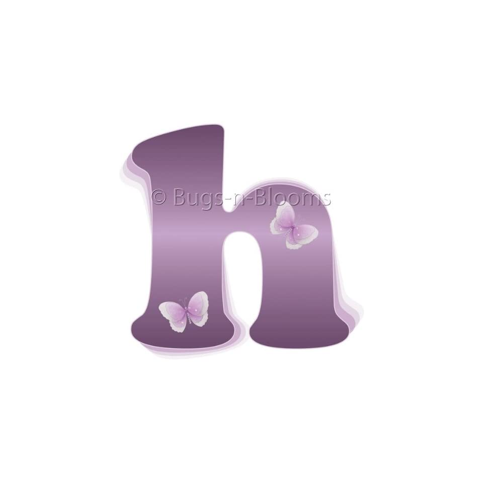 Wall Letters h Purple Butterfly Decorative Wall Letter for Childrens Nursery Babys Room Baby Name Girls Bedroom Decor   Alphabet Initial Vinyl Stickers Decals Kids Decorations Graphics Butterflies
