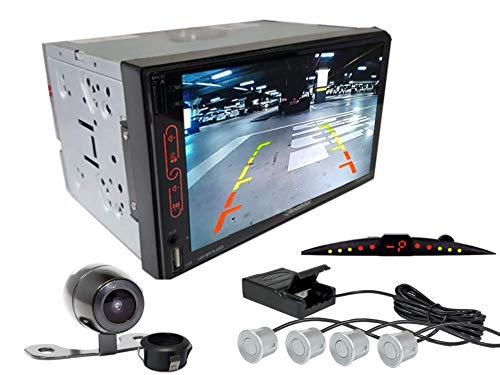 Multimidia Mp7 RS-707MP7 Com Câmera De Ré RS-121BR E Sensor De Estacionamento RS-204BR PRATA