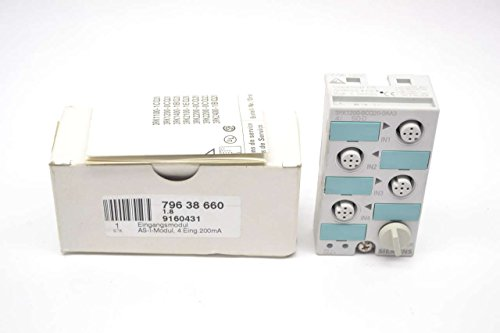 SIEMENS 3RK1200-0CQ20-0AA3 DIGITAL 4 INPUT MULTIPORT BLOCK I/O MODULE B448943 Multiport Module