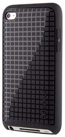 Speck SPK-A0130 Rubberized HD PixelSkin Case for iPod Touch 4G - Black (Speck Pixelskin Ipod 4 Case)