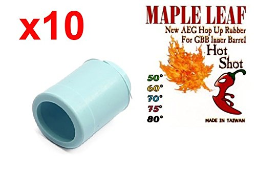 MLEmart Maple Leaf Hop Up Rubber Bucking Hot Shot / Hybrid (Delta, 70 deg, Lot of 10) by MLEmart
