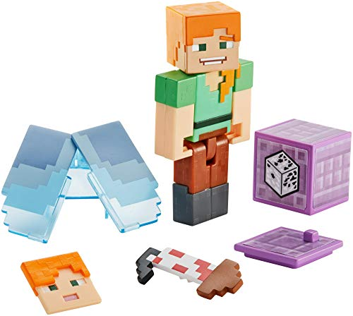Minecraft Comic Maker Alex with Elytra Action Figure (Minecraft Toys Figures)