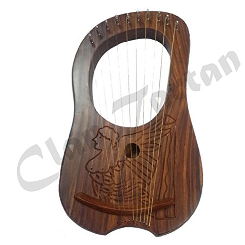 Lyra Harp Engraved Rosewood/Lyre Harp 10 Strings/Lyra Harfe by Clan Tartan