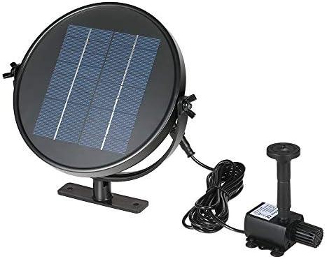 Bedler 9V 2W Solarpanel Solarbetriebener Brunnen Tauchbürstenloses Wasserpumpen-Kit für Vogelbadeteich 190L/H 170cm Lift ziehen Solar Powered Fountain