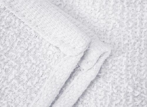 Globe House Products GHP 120-Pcs 26-Oz 16''x19'' White Cotton Terry Weave Ribbed Bar Mop Cleaning Towels