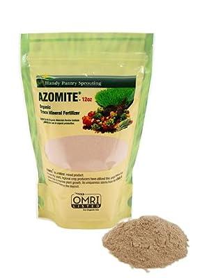 12 Oz. of Azomite - Organic Trace Mineral Soil Additive Fertilizer - 67 Trace Minerals: Garden / Gardening Soil Amendment