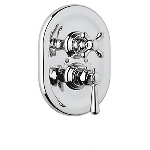 - Rohl A2909XMAPC Country Bath Collection Verona Trim Only for Thermostatic/Volume Concealed Valve Cross Handle: Polished