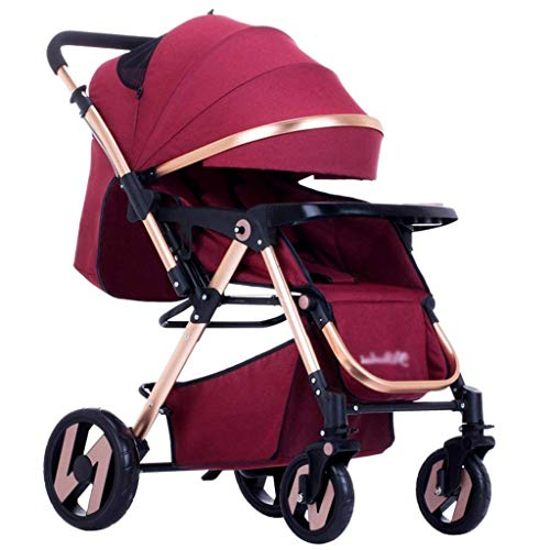 Hzpxsb Newborn Stroller Stroller Folding Child Portable Travel Cart for 0-3 Years Old