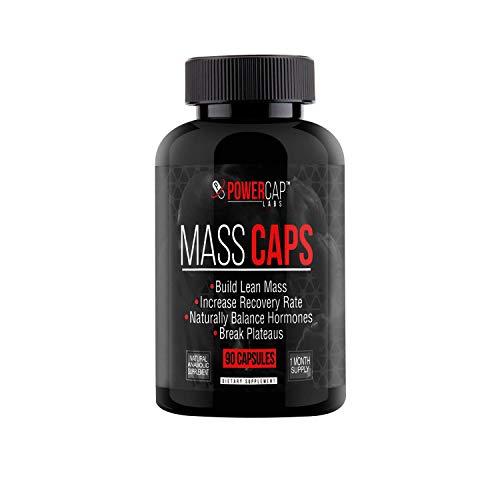 Mass Caps - Highest Quality Muscle Builder on Amazon, Build Lean Mass, Balance Hormones, Break Plateaus, with Creatine HCL, Laxogenin, HMB, L-Carnitine, 90 Vegan Capsules...