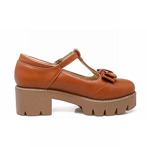 Blocco Sandalo Shoes Marrone Medio Mee E Donna Da A Tacco Con 58vdqF