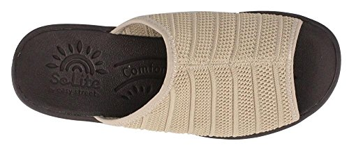 Natural Airy Women's Street Wedge Mid Sandals Easy Heel 4w0wOq