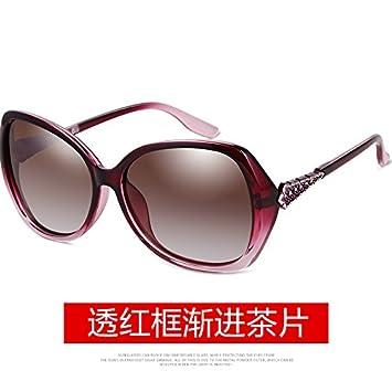 LLZTYJ Gafas De Sol/Gafas De Sol Polarizadas Mujer Cara Redonda Cara Larga Gran Marco