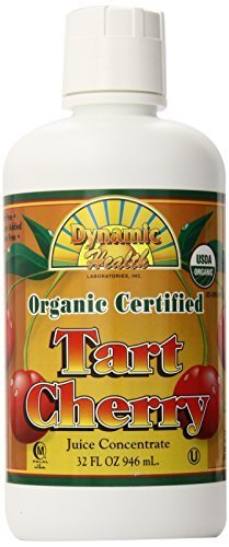 Dynamic Health 100 Percent Pure Organic Tart Cherry Juice Concentrate 32oz / 946ml by Dynamic Health