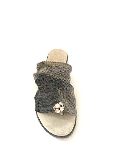 Piel De Gris Shoes Zeta Mujer Para Sandalias qvtHxwT