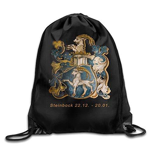 Steinbock Men & Women Fashion Backpacks Shoulder Bag Laptop Backpack,Sport Gym Sackpack Drawstring Backpack Bag