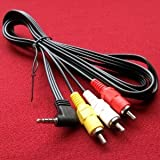 Bargains Depot® Product 5 feet Panasonic Portable DVD Player Compatible AV A/V TV-Out Audio Video Cable/cord/lead...