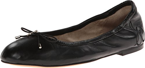 Sam Edelman Women's Felicia Ballet Flat, Black Leather, 8 M US