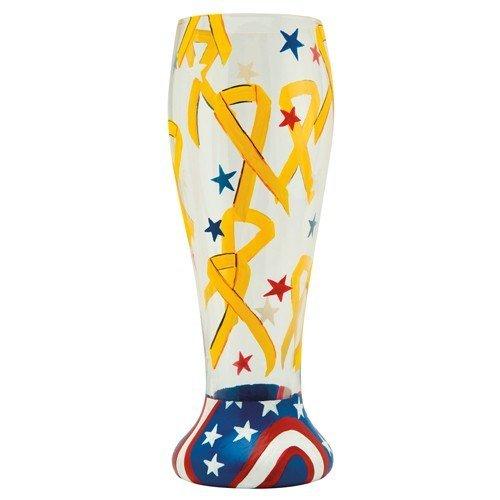 Lolita Gotta Love Beer Pilsner Glass, Yellow Ribbon by Santa Barbara Design - Ribbon Glasses