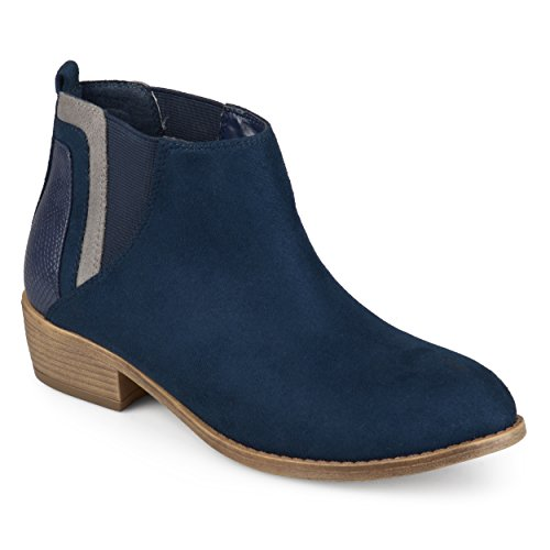 Journee Collection Womens Faux Snake Heel Ankle Booties Blue KeBfKd
