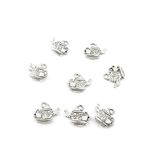 Price per 40 Pieces Jewelry Making Charms 04421 Teapot Pendant Ancient Silver Findings Accessoires -