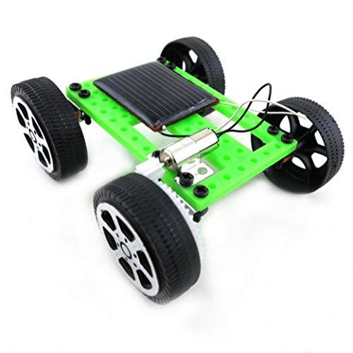 Matoen Mini Solar Powered Toy DIY Car Kit Children Educational Gadget Hobby Funny Thousands of Mercury Mini II Solar Toy Car (50g, Green)