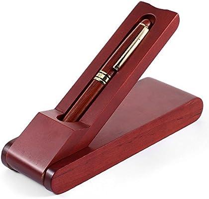 MaleDen - Estuche para pluma estilográfica, diseño vintage, con caja de regalo, tamaño mediano y tinta de recambio convertidor para escritura caligrafía, color palisandro: Amazon.es: Oficina y papelería