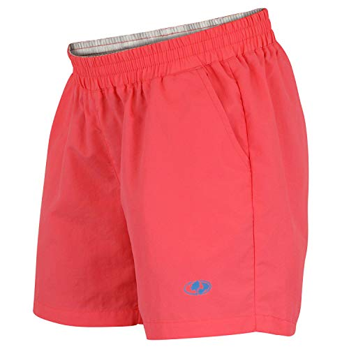 Mossy Oak Women's Swim & Fishing Quick Drying Shorts, Coral, X-Large