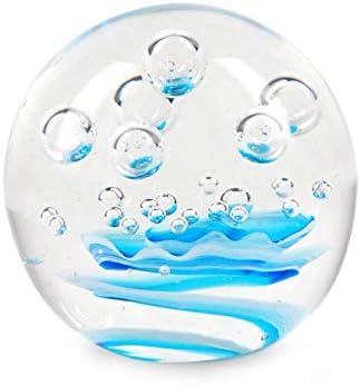 Decor and Go Briefbeschwerer, hellblau, Blasen, Glas, Einheitsgröße