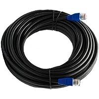 Multicable 20m cable de red ethernet Cat5E exterior con enchufe RJ-45 - FTP - CCA - Negro - 20 metros