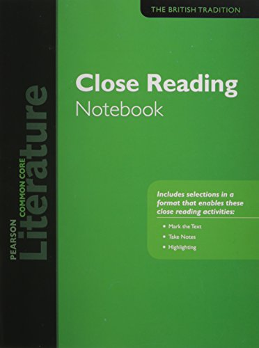 PEARSON LITERATURE 2015 COMMON CORE CLOSE READING NOTEBOOK GRADE 12