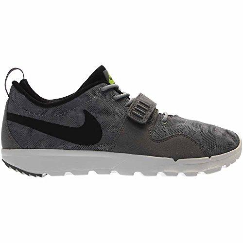 Nike Trainerendor, Scarpe da Skateboard Uomo Grigio/Nero-bianco-verde (Cool Grey/Black-white-volt)