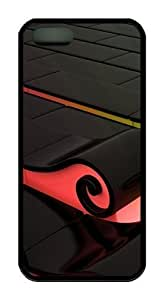 3D Colorful waves TPU Black case mate iphone 5 case for Apple iPhone 5/5S by mcsharks