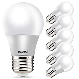 LED Refrigerator Bulb 40 Watt Equivalent, 3000K Warm White, Dimmable A15 Ceiling Fan Light Bulbs, E26 Base, UL Listed, 6 Pack