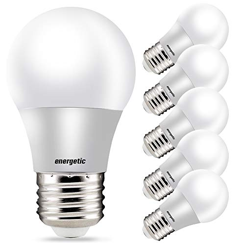 LED Refrigerator Bulb 40 Watt Equivalent, 3000K Warm White, Dimmable A15 Ceiling Fan Light Bulbs, UL Listed, 6 Pack