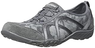Skechers Sport Women's Breathe Easy Fortune Fashion Sneaker,Charcoal/Gray Mesh/Charcoal Suede,7 M US (B01B6480TQ) | Amazon price tracker / tracking, Amazon price history charts, Amazon price watches, Amazon price drop alerts