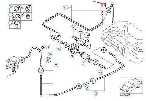 X5 series E53 SUV Intake Tube with Preformed Hose 6116752909 New Genuine: