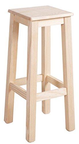 Muebles Natural - Taburete de Madera con asiento de madera, para ...