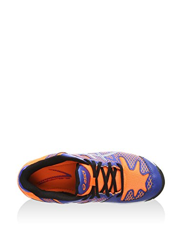 asics Gel-Solution Speed 2 GS - Zapatillas para deportes de exterior de sintético para niño - 4230 BLUE/FLASH ORANGE/SILVER