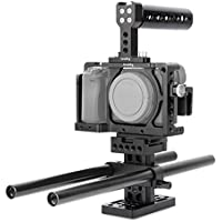 SmallRig Camera Kit for SONY A6300/A6000/ILCE-6000/ILCE-6300/NEX7 with Camera Cage, Handle, Rods, Rail Support System, HDMI Clamp -1886
