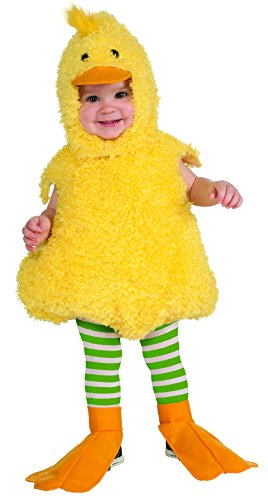 Rubber Ducky Boy Child Costumes (Rubie's Costume Co Cuddly Jungle Quackie Duck Romper Costume, Yellow, 6-12 Months)