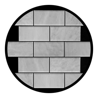 Carrara Marble Italian White Bianco Carrera 3x6 Wide Beveled Marble Subway Tile Honed -