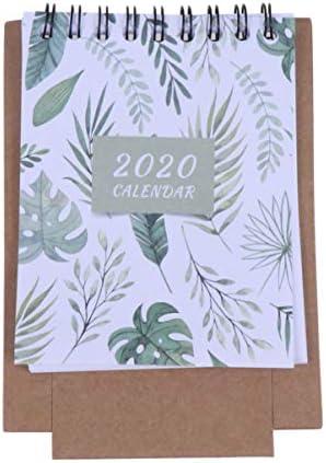 NUOBESTY 2020 Tischkalender Stehkalender Tagesplaner Monatsblätter Staffelei Kalender Spulenkalender
